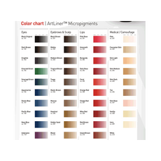 ArtLiner BURGUNDY Pigment Buze Micropigmentare 10ml, image , 3 image