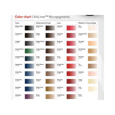 ArtLiner BLACK BROWN Pigment Sprancene Micropigmentare 10ml, image , 3 image