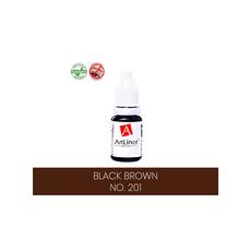 ArtLiner BLACK BROWN Pigment Sprancene Micropigmentare 10ml, image