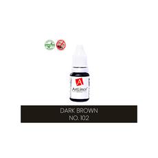 ArtLiner DARK BROWN Pigment Pleoape Micropigmentare 10ml, image