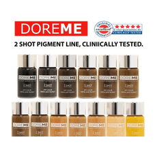 Doreme BLACK BROWN 2SHOT Pigment Sprancene Micropigmentare 15ml, image , 5 image