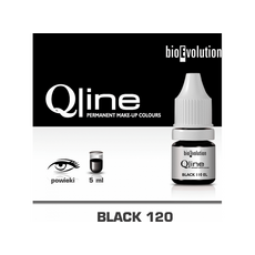 Bioevolution BLACK 120 Organic Pigment Pleoape Micropigmentare 5ml, image