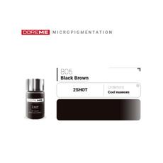 Doreme BLACK BROWN 2SHOT Pigment Sprancene Micropigmentare 15ml, image , 2 image