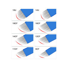 Biomaser 14U 0.18mm Lama 14 Pini Forma U Microblading, image , 4 image