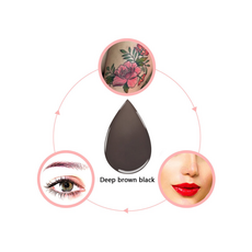 P.C.D DEEP BROWN BLACK Pigment Sprancene Microblading 15ml, image , 3 image