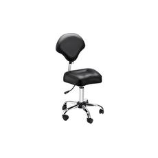Scaun negru cu picior, image