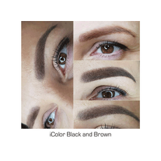 iColor BLACK AND BROWN Pigment Sprancene Micropigmentare 10ml, image , 6 image
