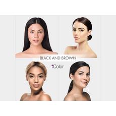 iColor BLACK AND BROWN Pigment Sprancene Micropigmentare 10ml, image , 3 image