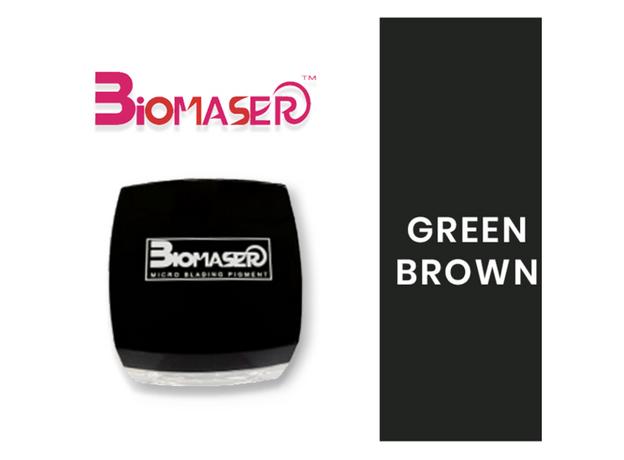 Biomaser GREEN BROWN Pigment Sprancene, image